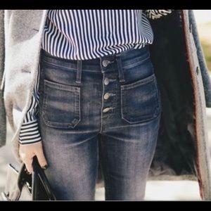👖J.Crew Vintage Point Sur Patch Pocket Crop Jeans